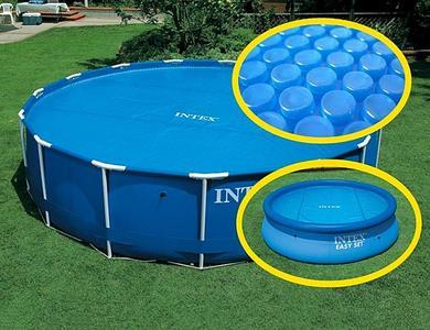 Telo termico RISCALDANTE X piscine INTEX 29024 universale fuori terra rotonda 488 cm