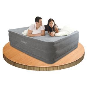 Materasso gonfiabile Intex 64418 letto matrimoniale ospiti cm 152X203X56  Airbed Comfort Plush Hise Rise Matrimoniale