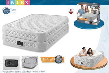 Materasso gonfiabile Intex Supreme INTEX 64464 AIRBED DURA BEAM POMPA con Pompa Elettrica Incorporata 152 x 203 x 51 cm