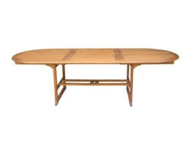 Tavolo da Giardino in legno acacia ovale allungabile modello MALAGA cm 200/280 x 110 h 75 cod OTA312