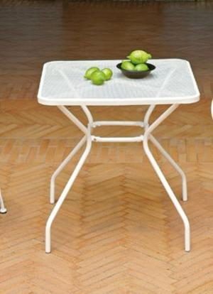 Tavolo Da Giardino In Ferro Avorio Quadrato BARDONILO 70 X 70 CM  art STF21A