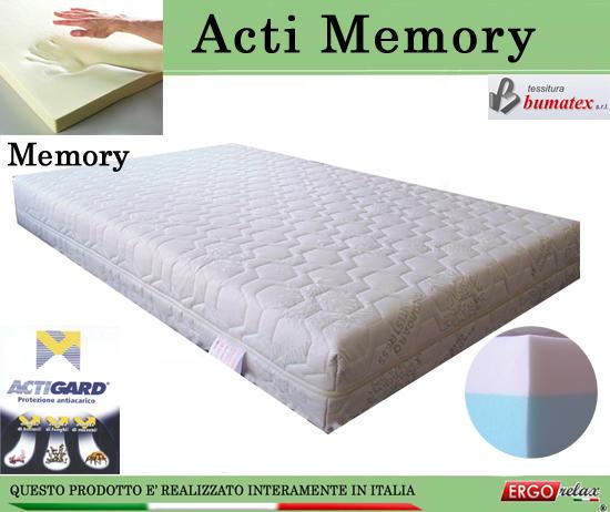 Materasso Memory Mod. Acti Memory Matrimoniale da Cm 160x190/195/200  Antiacaro Antistress Sfoderabile Altezza Cm. 20 - ErgoRelax