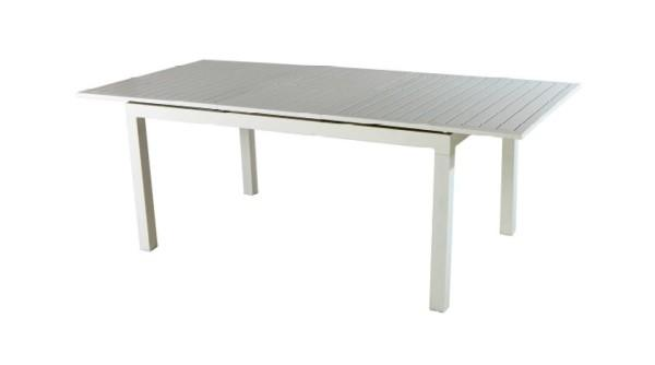 TAVOLO da giardino SAN GIMIGNANO allungabile 160/210 x 90 cm alluminio bianco RTA 32