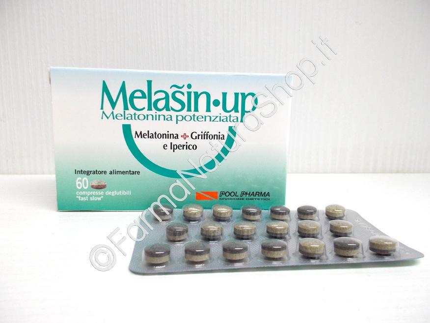 MELASIN-UP Nuova Formula Melatonina + Griffonia + Iperico 60 compresse