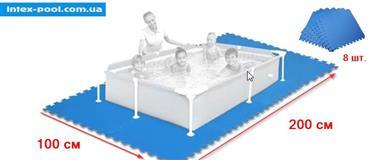 Piastrella antiscivolo per fondo piscina ad incastro pezzi 8 INTEX 29081 misura 51 x 50 x 8,6 cm