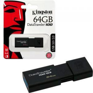 PENDRIVE 64 GB DT100  3.0 KINGSTON