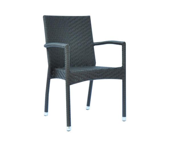 Sedie Con Braccioli Design.Sedia Da Giardino Le Havre Impilabile Con Braccioli Wicker Color Wenge Chw 52w