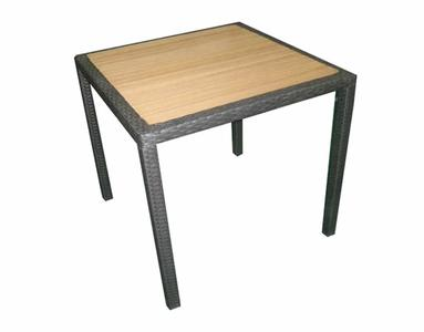 Tavolo da giardino ORLEANS avana spazzolato wicher e resin wood 80 x 80 cm STW55w