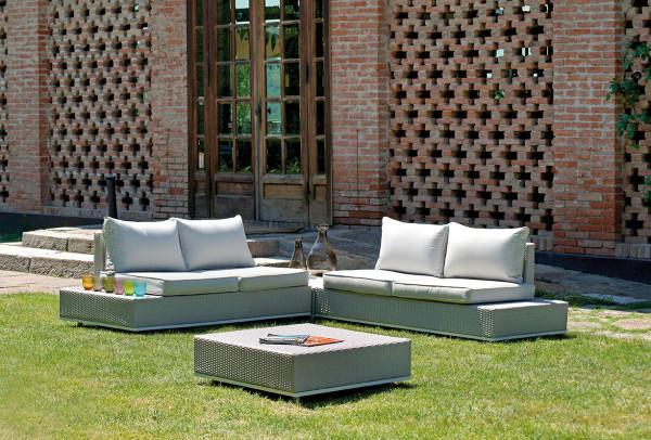 Salotto da giardino CORNER SET MONDELLO con 2 divani e 2 tavolini SET 70