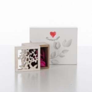 Scatola con potpourri con scatola farfalla linea Cuoregaio