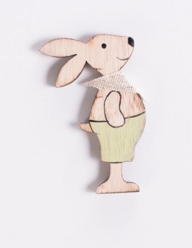 Magnete legno coniglio maschio linea Cuorebunny