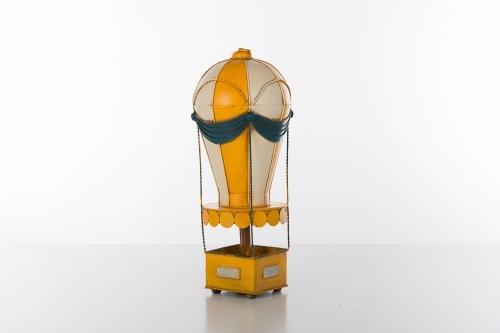 Mongolfiera in metallo h cm 35  linea Cuoreinvolo