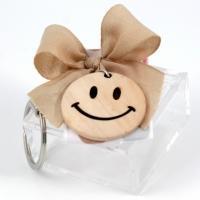 Scatolina plexi rosa con portachiavi smile legno linea Cuoresmile