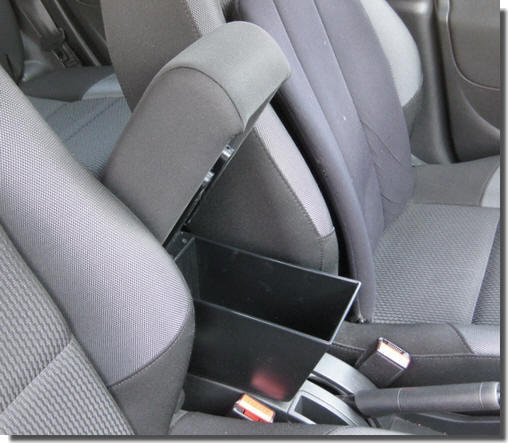 Adjustable armrest with storage for Peugeot 207 - 207 CC
