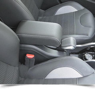 Adjustable armrest for Peugeot 2008 with colored stitchings