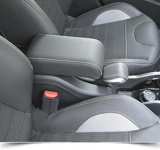 Accoudoir pour Peugeot 2008 avec coutures de couleur et charnière arrière couvert