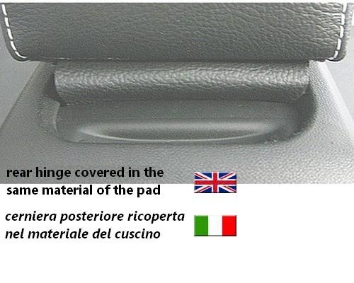 Adjustable armrest for Peugeot 2008 (2013-2019) with colored stitching and rear hinge covered