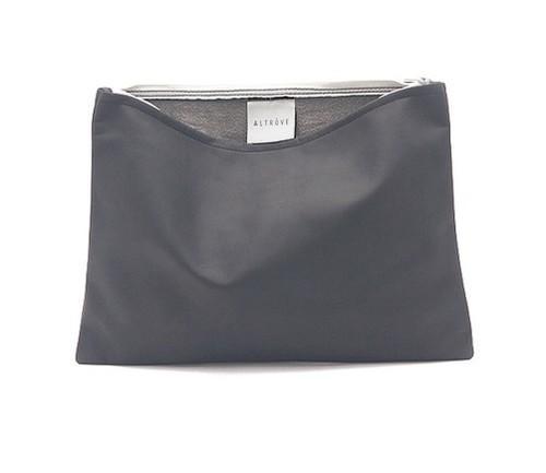 Tasche - Clutch - iPad / Samsung / Tablet Abdeckung - Case - IN GRAU ECHT LEDER