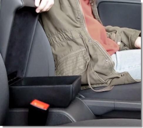 Adjustable armrest with storage for Volkswagen Golf 6