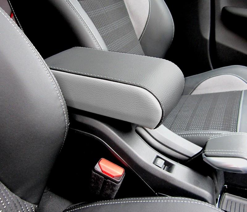 Bracciolo BICOLORE regolabile per Peugeot 2008 (2013-2019) + cuciture colorate
