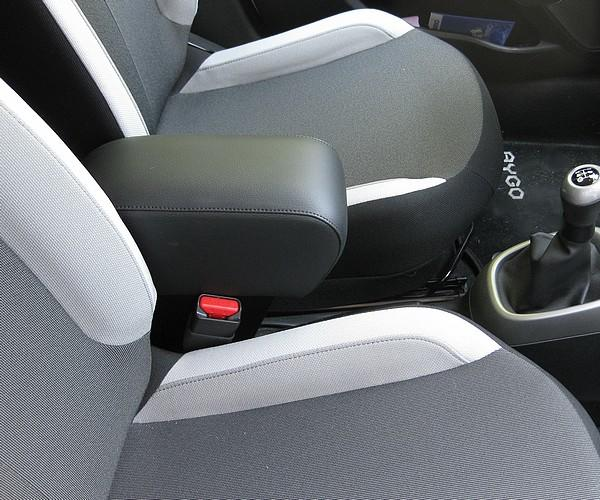 Adjustable armrest with storage for Peugeot 108