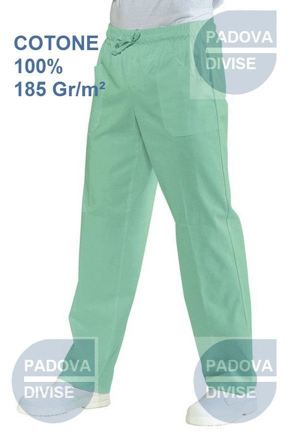 100/% Cotone 185 gr//m/² Verde Isacco Pantalone con elastico Verde XL