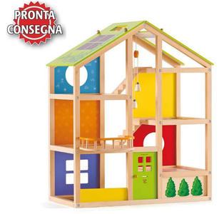 Casa delle Bambole 4 Stagioni in Legno Hape - Offerta