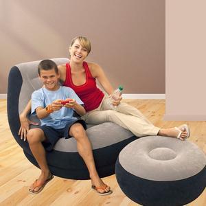 Poltrona gonfiabile lounge INTEX 68564 divano sofa con poggiapiedi portatile 68564