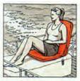Poltroncina Portatile con Schienale Regolabile Colore BLU - Offerta di Mondo Nautica  24