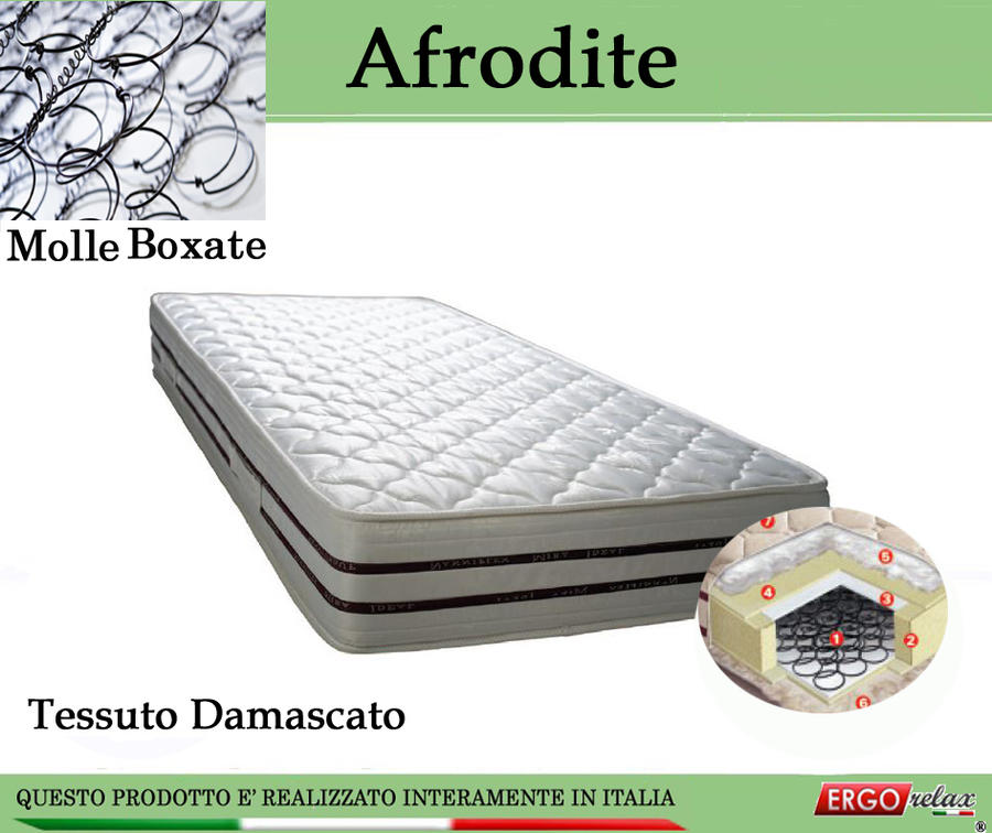 Materasso Molle Boxate Mod. Afrodite - da Cm. 170x190/195/200 ErgoRelax