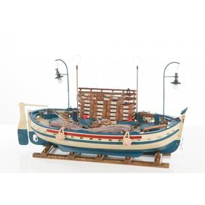Modello di Barca da Pesca in Legno con Lampare di Artesania Esteban - Mondo Nautica 24