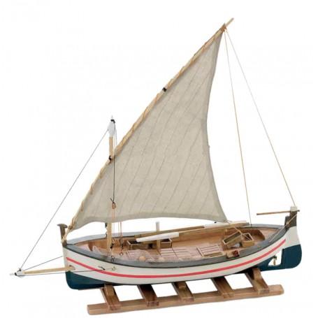 Modello di Paranza da Pesca a Vela in Legno di Artesania Esteban - Mondo Nautica 24