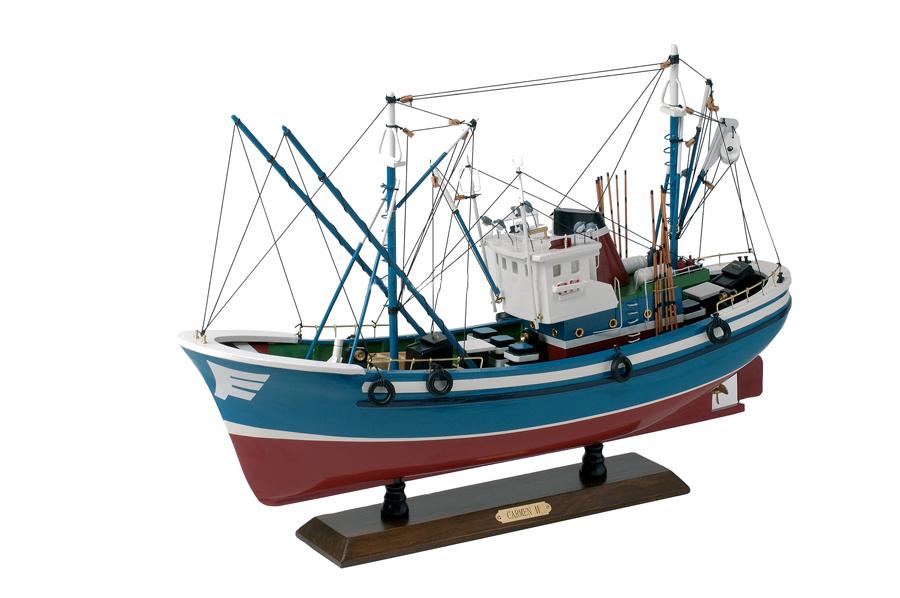 Modello di Peschereccio Basco a Motore in Legno di Artesania Esteban - Mondo Nautica 24