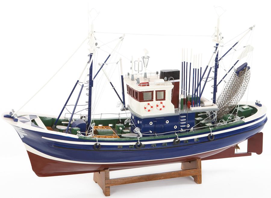 Modello di Peschereccio a Motore Tonnara in Legno di Artesania Esteban - Mondo Nautica 24