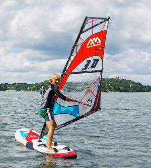 Windsurfing Stand Up Paddle Board AQUA MARINA SUP Windsurf modello CHAMPION dim 300 x 75 x 15 con accessori