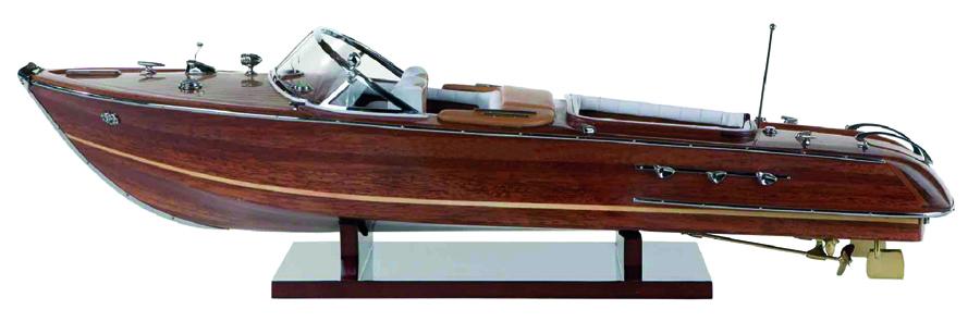 Modello di Motoscafo Italiano anni 60 in Legno di Artesania Esteban - Mondo Nautica 24