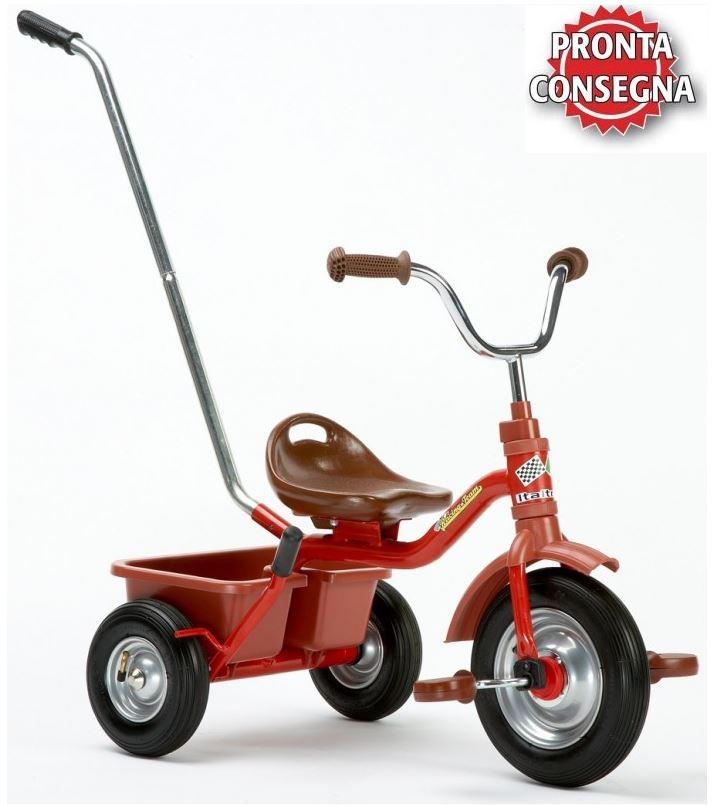 "Triciclo in metallo per Bambini ""Racing Monza"" di Italtrike - Made in Italy"