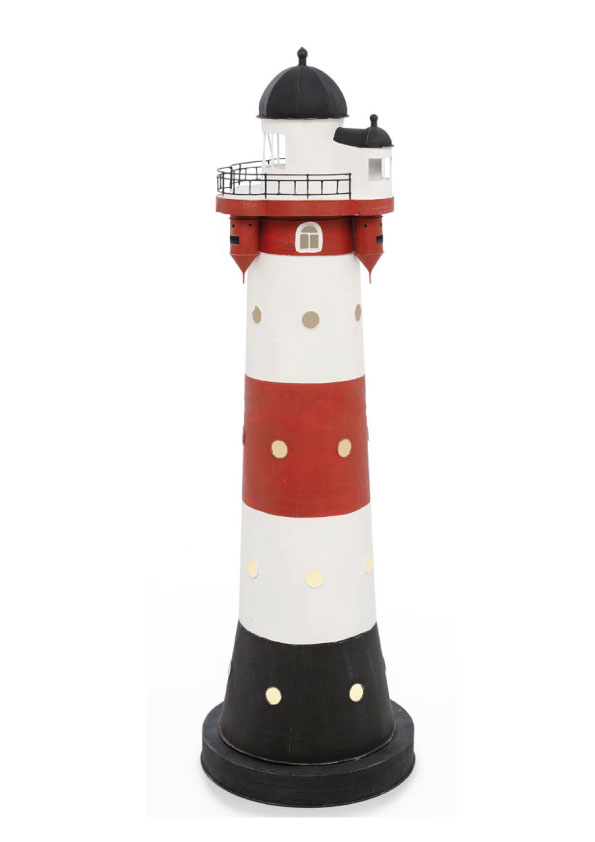 Modello di Faro Marino di Roter Sand con Luce ( alto 110 cm. ) di Artesania Esteban - Mondo Nautica 24