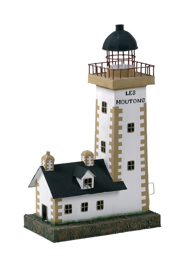 Modello di Faro Marino di Le Moutons con Luce ( alto 43 cm. ) di Artesania Esteban - Mondo Nautica 24