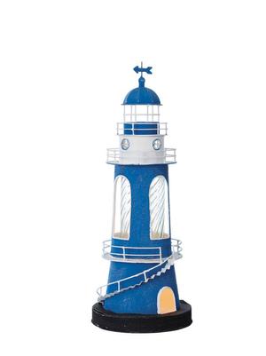 Modello di Faro Lampada Blu con Profili Bianchi ( alto 45 cm. ) di Artesania Esteban - Mondo Nautica 24
