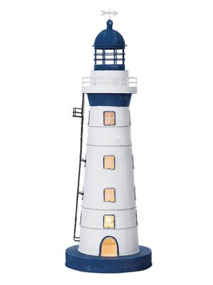 Modello di Faro Lampada Bianco con Profili Blu ( alto 60 cm. ) di Artesania Esteban - Mondo Nautica 24