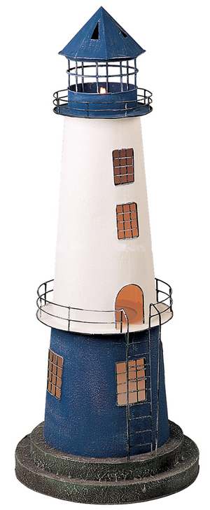 Modello di Faro Lampada Bianco e Blu (alto 115 cm) di Artesania Esteban - Mondo Nautica 24