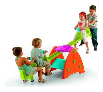 Altalena dondolo doppio da giardino per bambini 2+2 Famosa 800001024 - Sali-Scendi 2X2