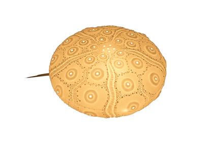 Lampada a Forma di Riccio di Mare in Porcellana di Artesania Esteban - Mondo Nautica 24