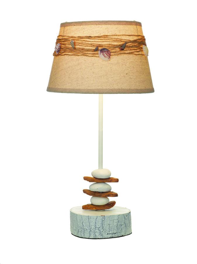 Lampada Marina con  Conchiglie alta 47 cm. di Artesania Esteban - Mondo Nautica 24