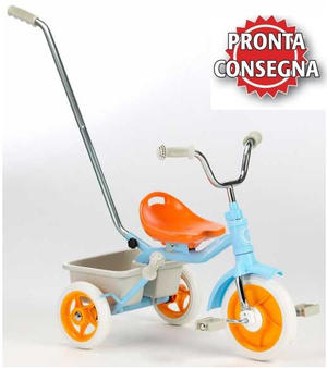 "Triciclo per Bambini ""Passenger Light Blue"" di Italtrike - Made in Italy"