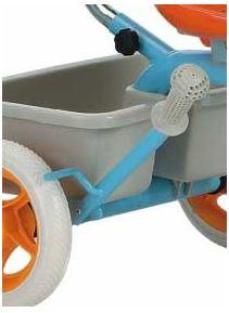 "Triciclo per Bambini ""Passenger Light Blue"" di Italtrike - Made in Italy"