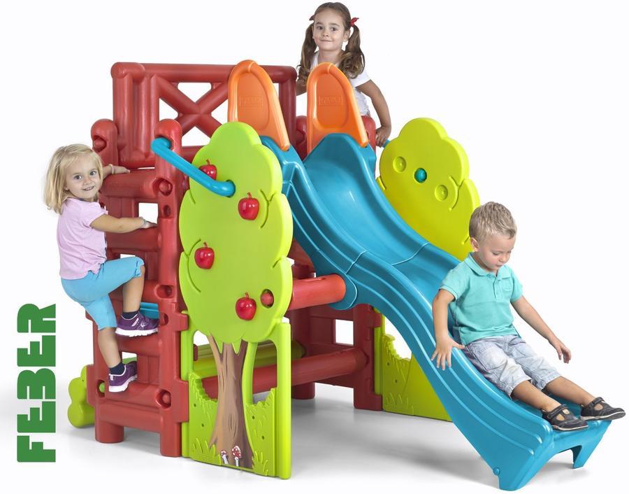 Parco Gioco Gigante da giardino per bambini centro multiattività FEBER FAMOSA WOOD HOUSE 800002889 GINO