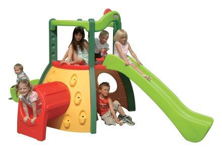 Parco giochi scivolo Palestra Little Tikes ARRAMPICATOIO CRISTINA con doppi scivolo 9000445