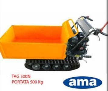 Motocarriola cingolata AMA TAG500N portata 500 kg cassone estensibile